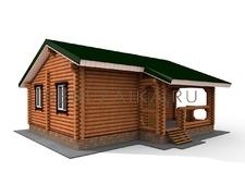 Проект Дом 65 (Одноэтажный дом для постоянного проживания с двумя спальнями и просторной террасой)
