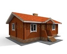 Проект Дачный дом 44 (Компактный, но вместительный дом для сезонного отдыха с 2-мя спальнями)