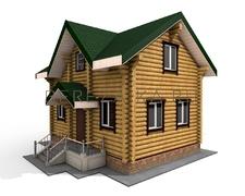 Проект Дом 67 (Небольшой дом с двумя спальнями, прекрасный вариант для загородного отдыха)