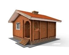 Проект Гостевой дом 24 (Удачный проект дома с небольшим с/у и кухней)