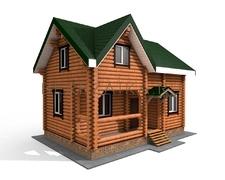 Проект Дом 74 (Небольшой дом с двумя спальнями, прекрасный вариант для загородного отдыха)