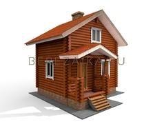 Проект Дачный дом 41 (Двухэтажный дом-дача с просторной комнатой с двумя окнами)