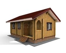 Проект Дом 37 (Небольшой одноэтажный дом с с/у, кухня объединена с гостиной)