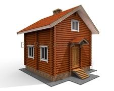 Проект Дачный дом 52 (Компактный двухэтажный дом для постоянного проживания размером 6х6)